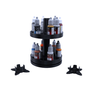2-Tier Spinning Paint Rack