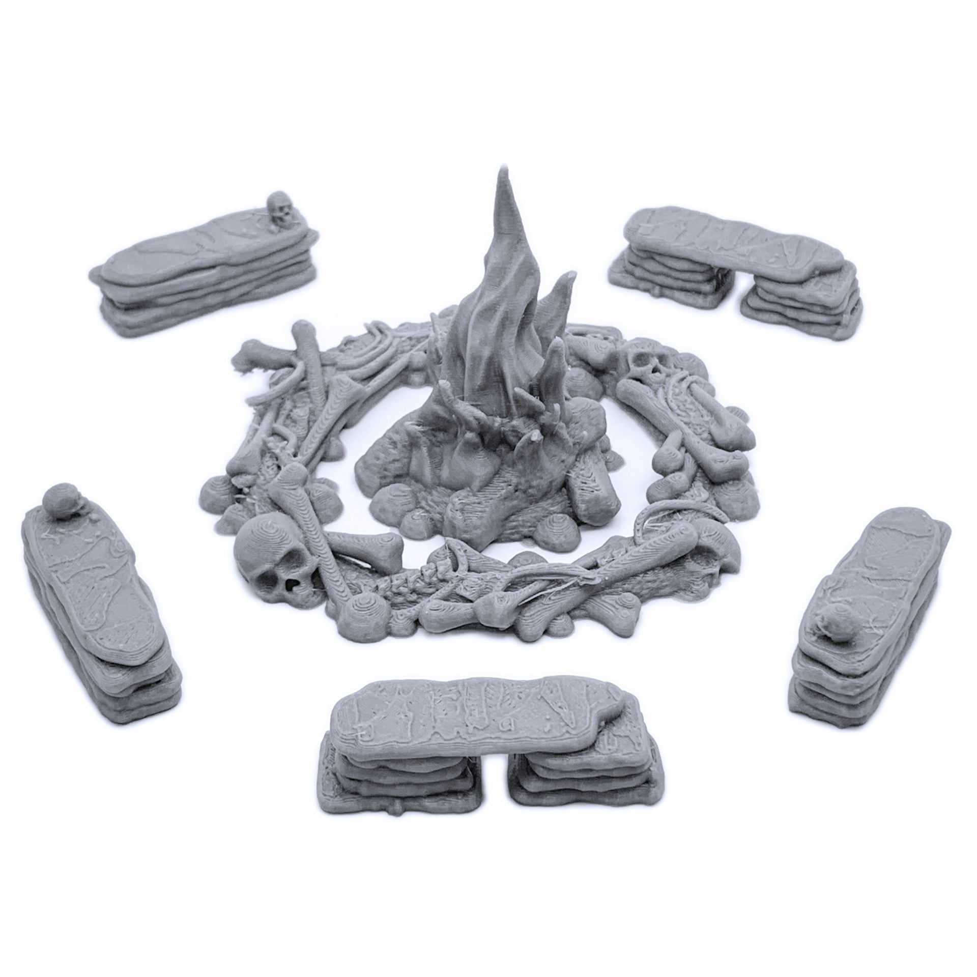 Hill Giant Bone Fire Pit - EnderToys Terrain