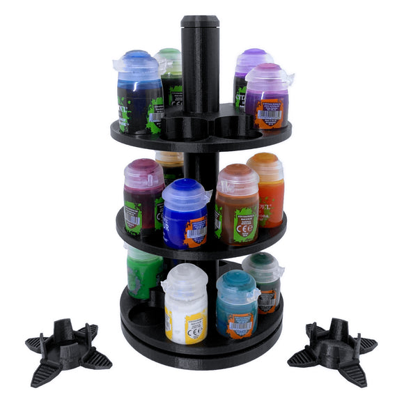 3-Tier Spinning Paint Rack for Tall Pots