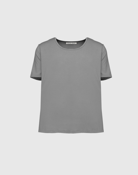Signature Scoop Tee- SLATE