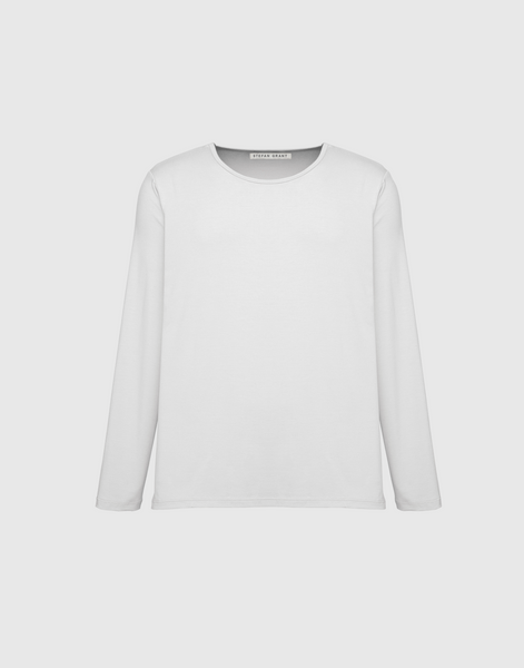 Long Sleeve Tee (Scoop Neck) - WHITE