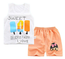 Load image into Gallery viewer, Toddler boy Shirt Set Tshirt Children's Clothing Set Child Vest Shorts and a T-shirt for Baby Boy Summer Clothes 1 2 3 Years Old