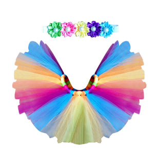 Multi-coloured Tutu Skirt and Headband Set