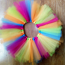 Load image into Gallery viewer, Multi-coloured Tutu Skirt and Headband Set