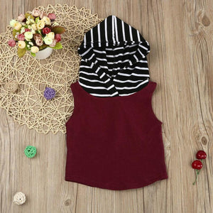 Hooded Vest and Shorts Set
