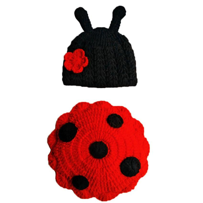 Beetle Costume in Knit Crochet For Newborn Photography