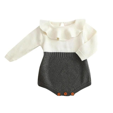 Knitted Royal Cape Bodysuit For Baby Girl (0-24 months)