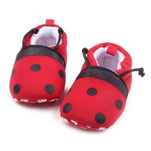 Beetle and Bumble Bee Shaped Round Toe Soft Shoes