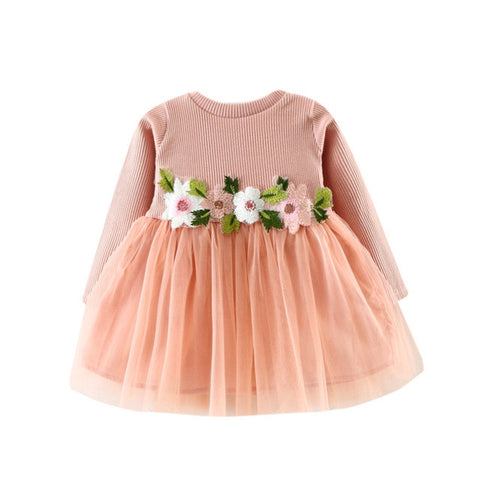 Floral Long Sleeve Party Dress For Baby/Toddler Girl (0-24 months)