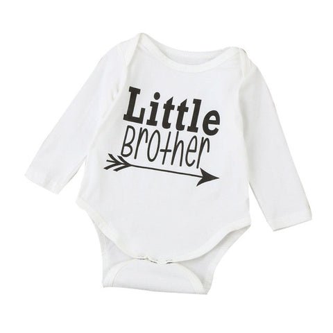 Baby Boy 'Little Brother' Long Sleeve Romper Autumn/Winter (0-18 Months)