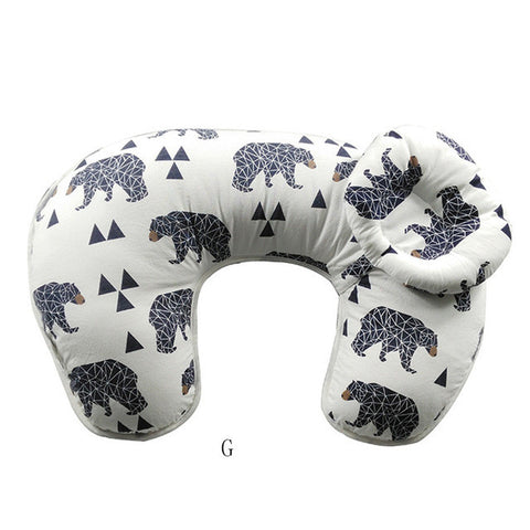 2 Pcs Set Multi-function U-Shaped Nursing Pillow with Head Rest For Baby