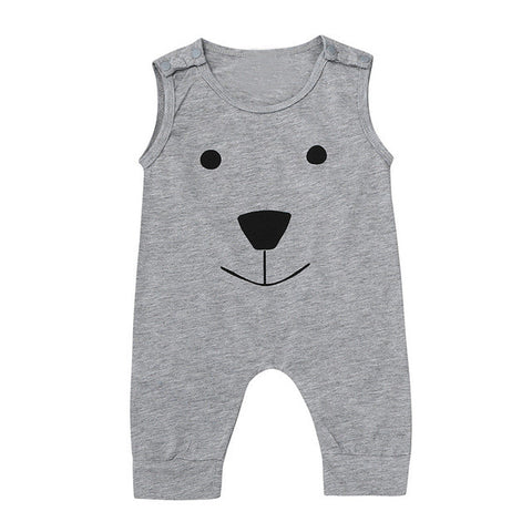 Sleeveless Bear Themed Onesie (0-18 months)