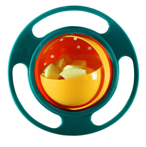 Baby Gyro Feeding Spill-Proof Bowl With 360 Degrees Rotate Technology