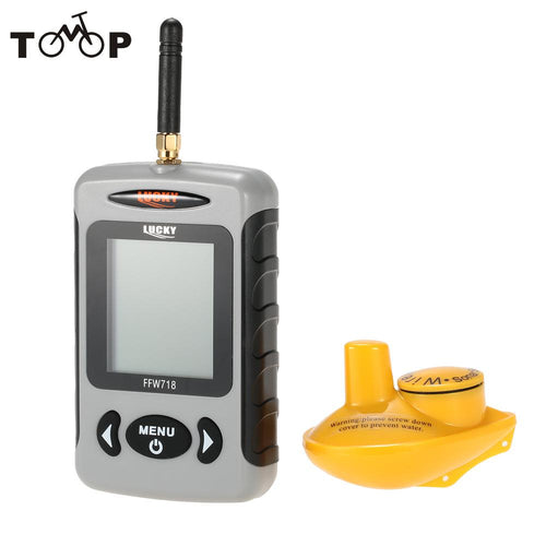 FFW718 Waterpoof Russian Wireless Fish Finder 125KHz Frequency Bottom Contour 0.7-45M Fishfinder Sensor Fishing Camera
