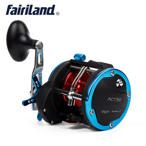 4BB RIGHT HAND 4.1:1 Fairiland Drum Trolling Reel 18Kg Drag Power Boat Fishing Reel 2 Colors (30A/B) Avail. Sea fishing tackle