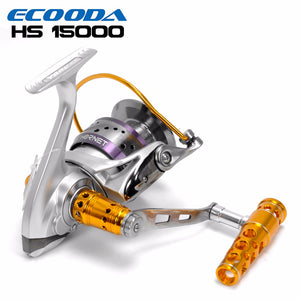 ECOODA Hornet Heavy Duty Metal Spinning Jigging Fishing Reels Saltwater Boat Rock Fishing Reel HS8000/12000/15000