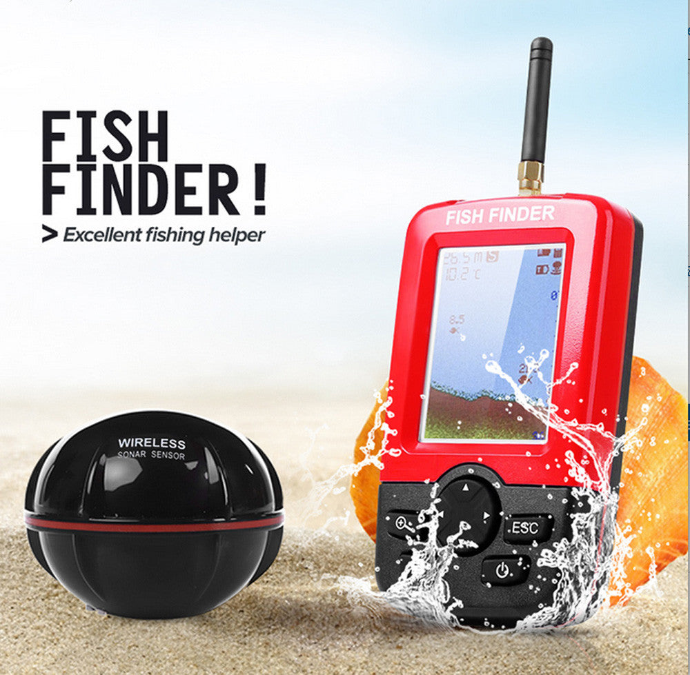 New Smart Portable Depth Fish Finder With 100M Wireless Sonar Sensor Echo Sounder Fish Finder For Lake Sea Fishing LED backlight