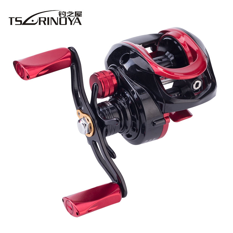 TSURINOYA 6.6:1 Large Profile Ulttra Light Bait Casting Reel Left Right Hand Aluminum Alloy Spool Baitcasting Reel Fishing Reels