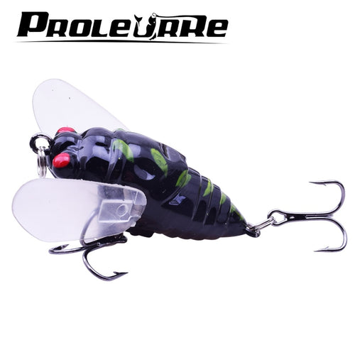 1PCS Cicada 5.8g 4.5cm Perch Insect Lure Bait Fishing Lure Treble Barb Hooks Fishing Tackle Artificial Bait Fishing Accessorie