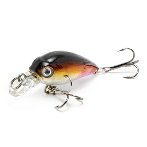 Amlucas Minnow Fishing Lure 45mm 4.4g Crankbait Hard Bait Topwater Artificial Wobbler Bass Japan Fly Fishing Accessories WE267