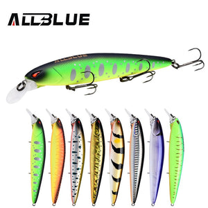 ALLBLUE JINBE 110SP Silent Wobbler Fishing Lure 110mm 18.5g Rolling Jerkbait Minnow Unique Lip Bass Pike Bait Fishing Tackle
