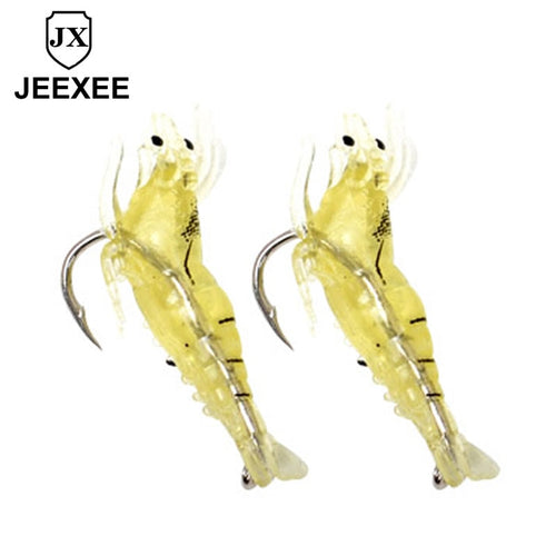 40mm 0.12g 1pcs Soft Silicone Shrimp Fishing Lure Wobblers Fishing Minnow Trout Fish Lures Artificial Bait  Hook Bass Tackle Jig