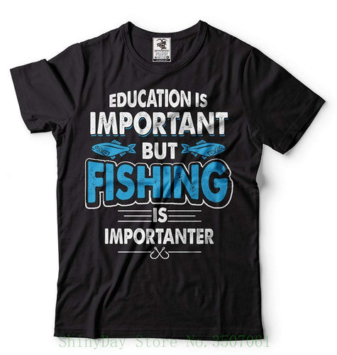 Fisher T-shirt Mens Funny Fishing Apparel Fathers Day Gift Shirt Summer Fashion Funny Print T-shirts
