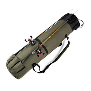 Fishing Rod Bag Oxford Large Capacity Fishing Pole Holder Reel Case Bag Organizer For Fishing Rod Fishing Tackle