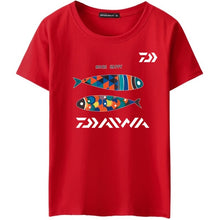 Daiwa Fishing T-Shirts Jersey Short-sleeve Cotton Fishermen Angling Carp Trout Bass Lure Anti-UV Quick Dry Breathable Clothing