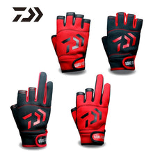 1Pair Fishing Gloves Breathable Anti-Slip Fitness Carp Fishing Accessories Spring Outdoor Three Five Fingerless Fishing Glove