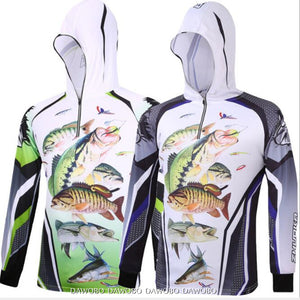 Outdoor sport Hooded Long sleeves Men's Fishing Apparel Anti-UV protection Hiking Fishing clothes  Anti-mosquito Fishing shirt