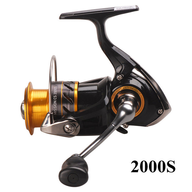 DAIWA MISSION CS Spinning Reel 2000S/2500S/3000S/4000S/4BB/5.3:1/2-6KG Fishing Reel Carretilha De Pesca Saltwater Molinete Peche
