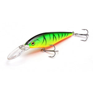 1.5-4m 10.5g 11cm Hard Bait Minnow Fishing lures Crankbait Wobbler Depth Dive Bass Fresh Salt water 4# Hook