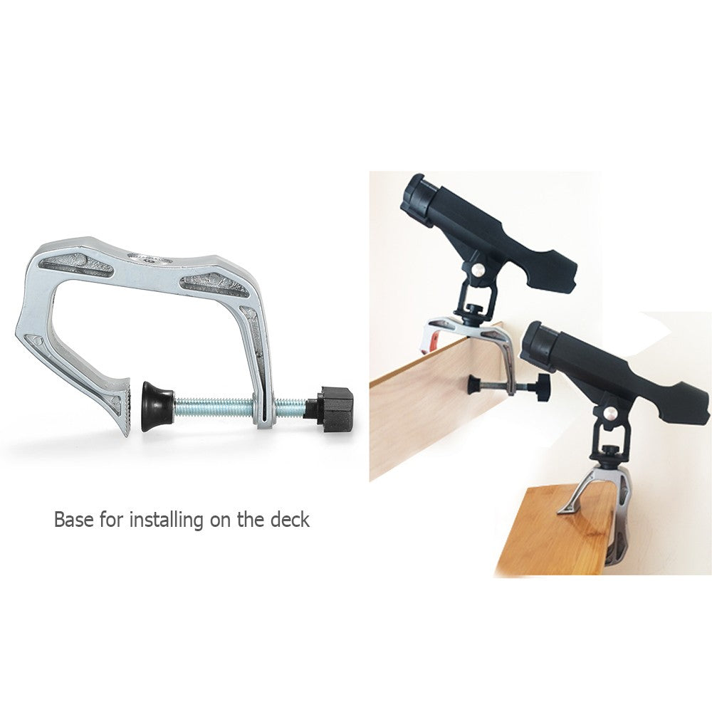 Boat Fishing Rod Holder Fishing Pole Racks Clamp Adjustable Fishing Rod Clamp-on Fishing Accessory