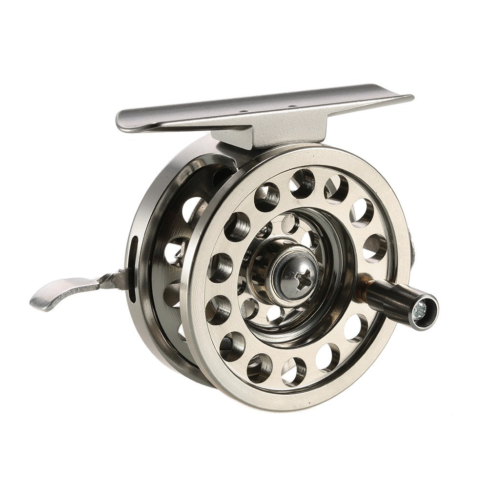 Fly Fishing Reel Right Handed Aluminum Alloy Smooth Rock Ice Fishing Reels Fly Reels Fishing Accessories