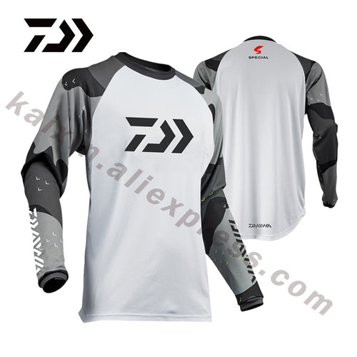 DAIWA 5 Style 2019 New Style Fishing Clothing XS-5XL Size Daiwa Clothing Fishing Shirt Anti-UV Fishing Clothes DAWA Camisas