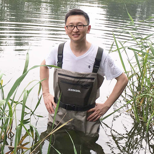 Fly Fishing Waders Clothing Portable Chest Overalls Men's Waterproof Clothes Wading Pants Breathable Stocking Foot Good As Daiwa