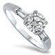 1.21ct Round Diamond Engagement Ring