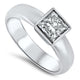 1.00cts Princess Cut GIA Certified Diamond Engagement Ring with a H SI1 Diamond