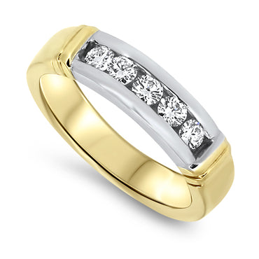 0.55ct Diamond Dress Band in 18k Yellow Gold