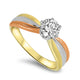 1.05ct Diamond Solitaire Set into a Three Toned 18k Gold Ring
