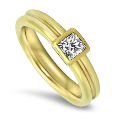0.52ct Diamond Solitaire Ring in 18k Yellow gold