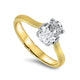 1.12ct Oval Diamond Solitaire Engagement Ring E VVS2