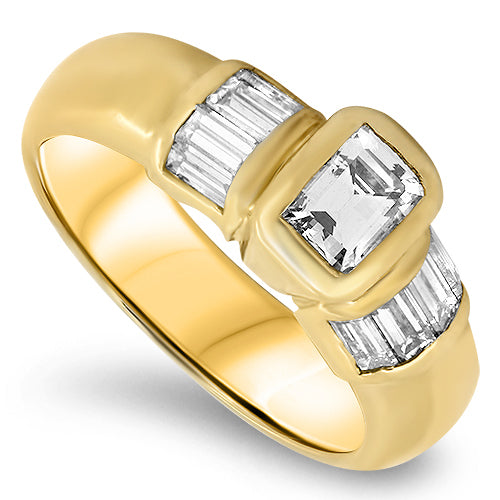 1.53ct Emerald Cut Diamond Ring G VS1 in 18ct Gold