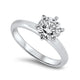 1.20ct Round Diamond Solitaire Engagement Ring H SI2 with GIA Certificate set in Platinum