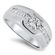 1.85ct Diamond Mens Ring with a 1.05ct Center Diamond in 14ct White Gold