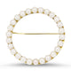 18k Yellow Gold Cultured Pearl Handmade Brooch