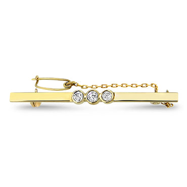 0.30ct Diamond Handmade Brooch in 18k Yellow Gold