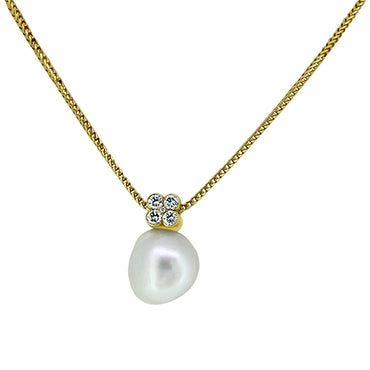 18ct South Sea Pearl & Diamond Necklace