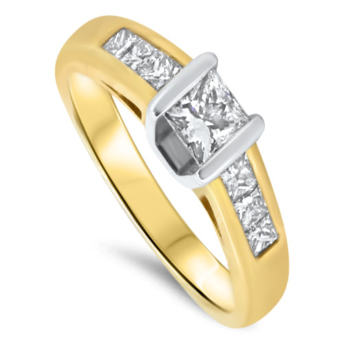 0.76ct Diamond Engagement Ring set in 18k gold